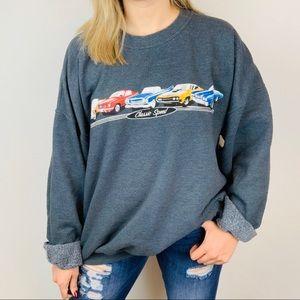 George Vintage Classic Speed Cars Sweatshirt XL